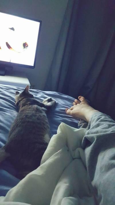 Sleepy time together.